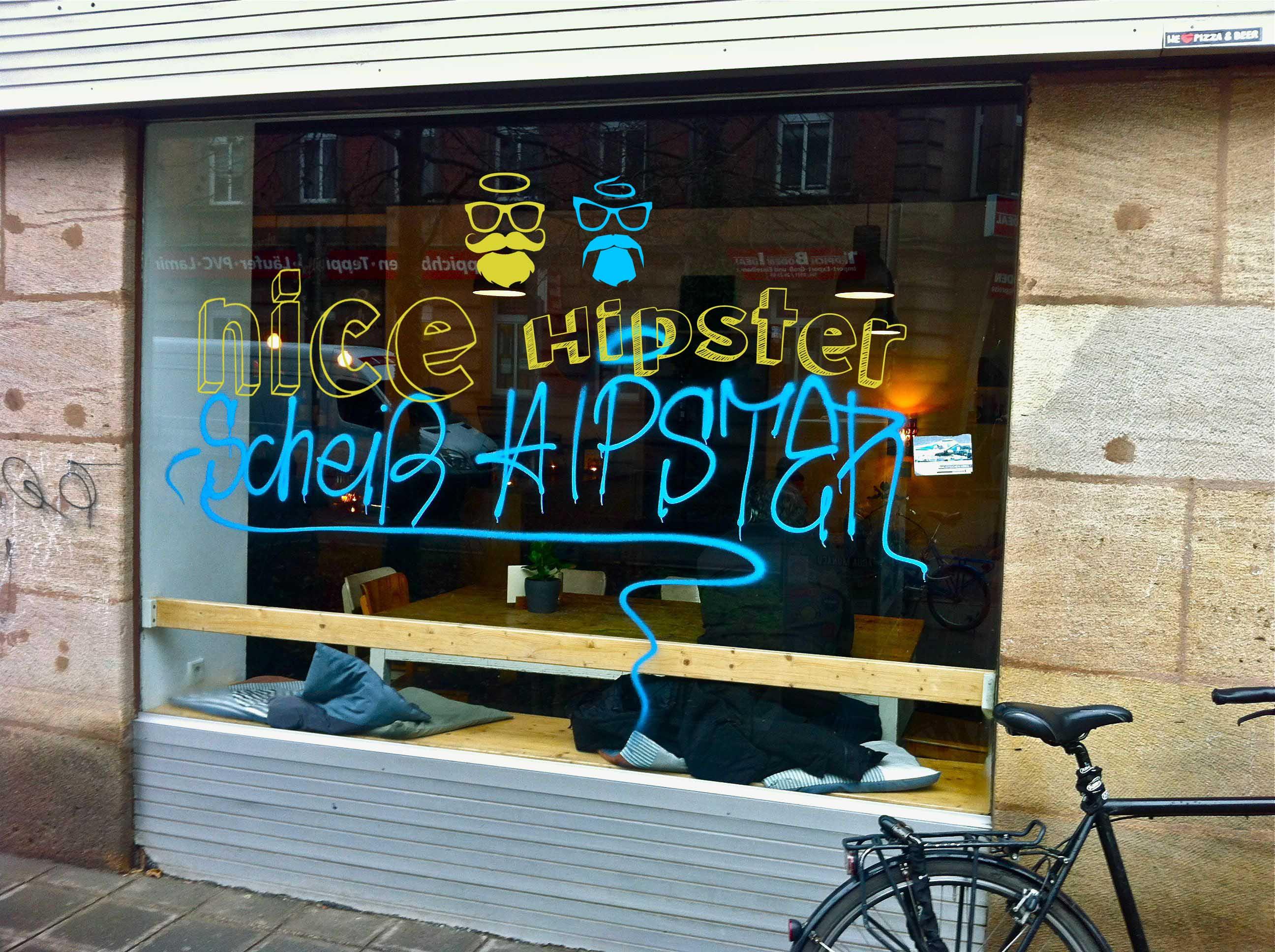schei hipster nice hipster yen graffiti. Black Bedroom Furniture Sets. Home Design Ideas